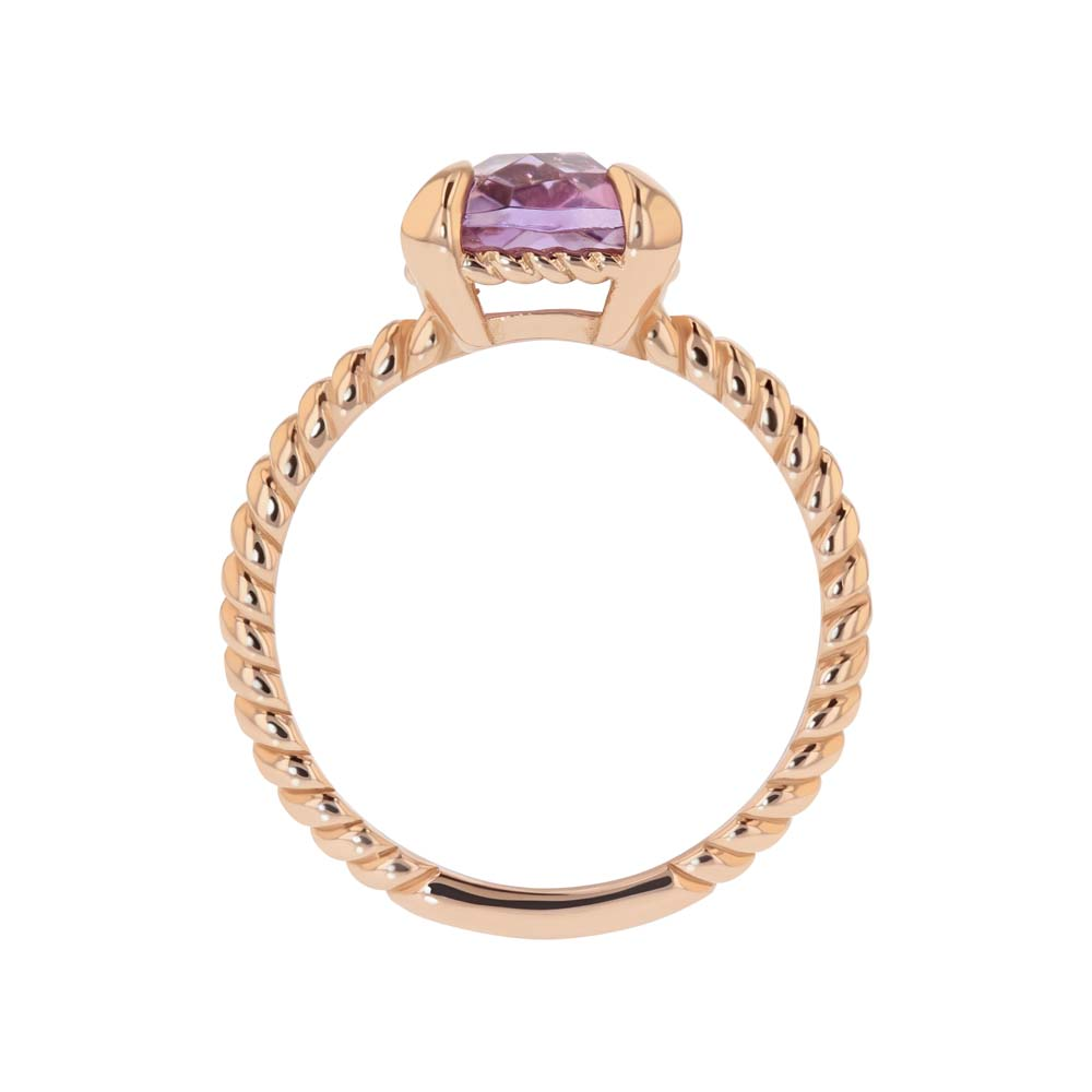 Amethyst Ring in 14ct Rose Gold - Size N Only. No resize.