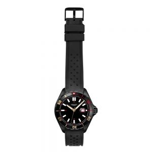 Cerati Swiss A9324BK Stainless Steel Black Rubber Mens Watch