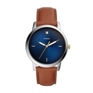 Fossil The Minimalist FS5499 Brown Leather Mens Watch