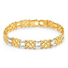9ct Yellow Gold & White Gold Dazzling Fancy Bracelet