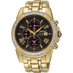 Seiko SSC314P-9 Le Grand Sport Solar Diamond Set Mens Watch