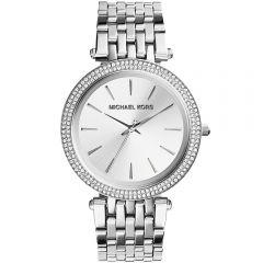 Michael Kors MK3190 Darci Stone Set Silver Tone Womens Watch