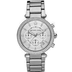 Michael Kors MK5353 Parker Stone Set Silver Tone Womens Watch