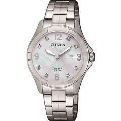 Citizen EU608058D Silver Stainless Steel Womens Watch