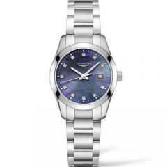 Longines Conquest Classsic L22864886 Mother of Pearl Diamond Set Stainless Steel