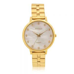 Ellis & Co Alexia Diamond Set Stainless Steel Band Womens Watch