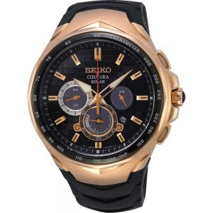 Seiko Coutura SSC768P  Rose and Black Steel Mens Watch