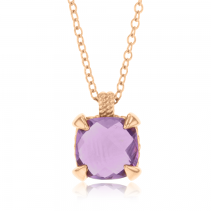 Amethyst Necklace in 14ct Rose Gold