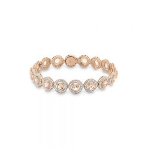 Morganite & Diamond Bracelet in 9ct Rose Gold