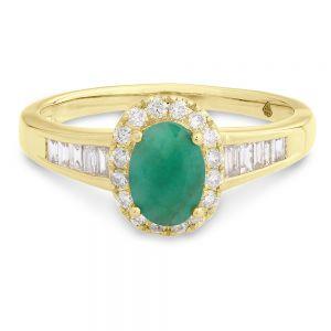 Emerald & Diamond Ring in Gold