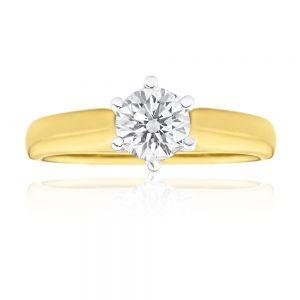 18ct Yellow Gold 1.00 Carat Australian Diamond Solitaire