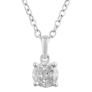 SEAMLESS LOVE  9ct White Gold 1/2 Carat  Diamond Pendant on 45cm Chain