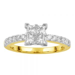 SEAMLESS LOVE 9ct Yellow Gold Dress Ring with 1.00 Carat of Diamonds