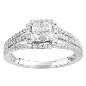 SEAMLESS LOVE  9ct White Gold Dress Ring with 70 Points of Diamonds