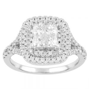 SEAMLESS LOVE  9ct White Gold Dress Ring with 1.30 Carats of Diamonds