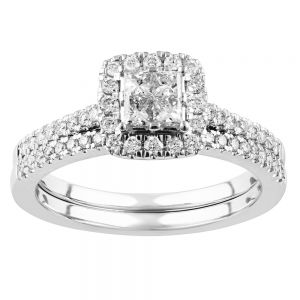 SEAMLESS LOVE 9ct White Gold Dress Ring with 0.60 Carat of Diamonds