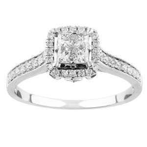 SEAMLESS LOVE  9ct White Gold Dress Ring with 90 Points of Diamonds