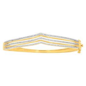 9ct Yellow Gold 1 Carat Diamond Bangle