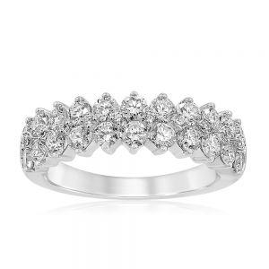 Luminesce Lab Grown 9ct White Gold 1.50 Carat Diamond Dress Ring with 32 Diamonds