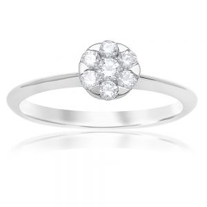Luminesce Laboratory Grown 9ct White Gold 1/5 Carat Diamond Dress Ring