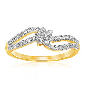 Luminesce Lab Grown 9ct Yellow Gold 0.40 Carat Diamond Ring with 41 Diamonds