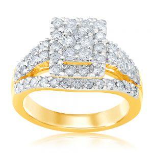 Luminesce Lab Grown 9ct Yellow Gold 1.50 Carat Diamond Dress Ring with 62 Diamonds