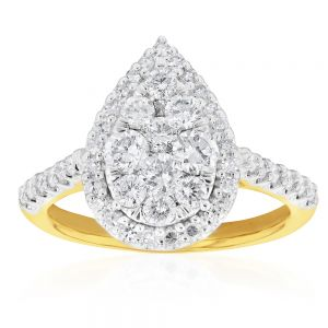 Luminesce Laboratory Grown 1 Carat Diamond Ring 9ct Yellow Gold