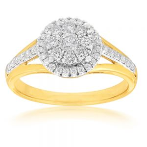 9ct Yellow Gold 1/2 Carat Diamond Ring