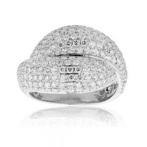 9ct White Gold 2 Carat Pave Diamond Ring