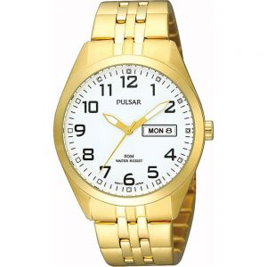 Pulsar PV3006X Mens Gold Watch