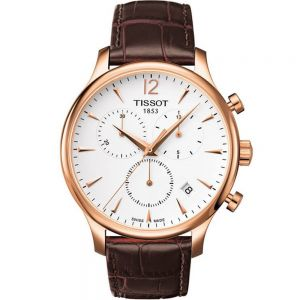 Tissot Tradition T0636173603700 Brown Leather Mens Watch