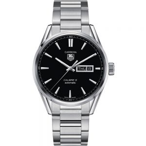 TAG Heuer Carrera Calibre 5 WAR201ABA0723 Silver Stainless Steel Mens Watch