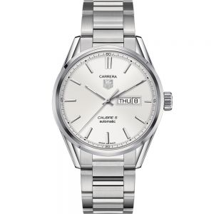 TAG Heuer Carrera Calibre 5 WAR201BBA0723 Silver Stainless Steel Mens Watch