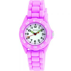 ECC Kids Pink Silicone Strap Watch