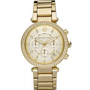 Michael Kors MK5354 Parker Stone Set Gold Tone Womens Watch