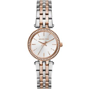 Michael Kors Darci MK3298 Rose and Silver Stainless Steel Womens Watch