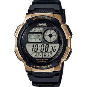 Casio AE1000W-1A3 World Time Mens Watch