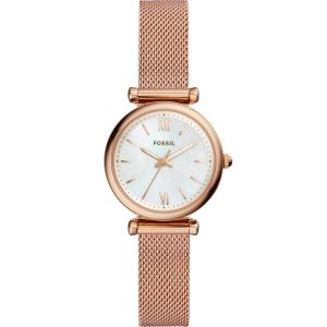 Fossil Carlie Mini ES4433 Rose Stainless Steel Womens Watch