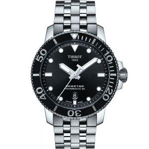 Tissot Seastar 1000 T1204071105100 Powermatic 80 Stainless Steel Mens Watch