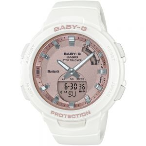 Baby-G G-Squad  BSAB100MF-7A White Resin Womens Watch