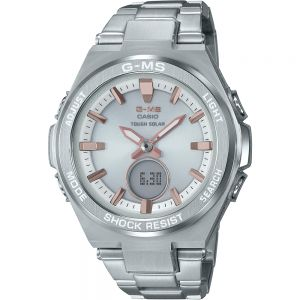 Baby-G MSGS200D-7A Silver Stainless Steel Womens Watch