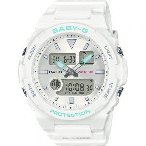 Baby-G G-Lide BAX-100-7ADR White Resin Womens Watch