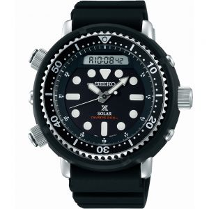 "Seiko Prospex SNJ025P ""Arnie""  Black Silicone Mens Watch"