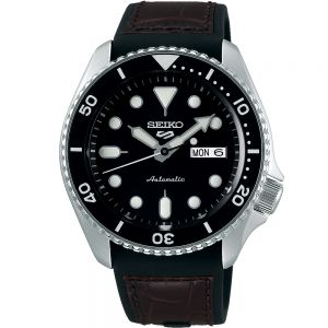 Seiko 5 SRPD55K-2 Automatic Brown Leather Mens Watch