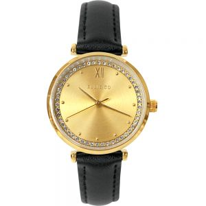 Ellis & Co Stella Black Leather Womens Watch