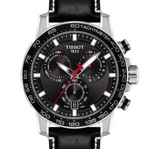 Tissot Supersport Chrono T1256171605100 Black Leather Mens Watch