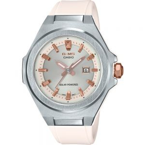 Baby G-Solar Powered MSGS500-7A Stainless Steel Resin White Womens Watch