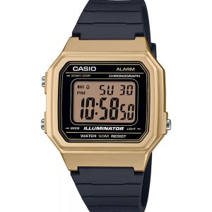 Casio W217HM-5A Digital Gold and Black Watch