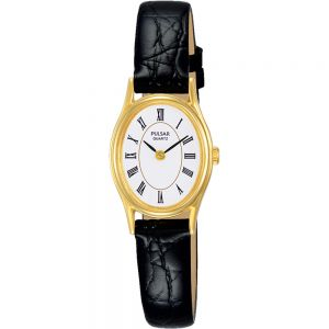 Pulsar PPGD74X Black Leather Womens Watch