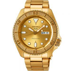 Seiko 5 SRPE74K Automatic Gold Mens Watch